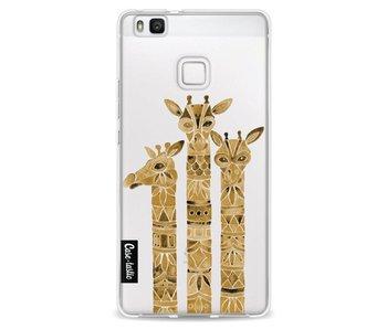 Sepia Giraffes - Huawei P9 Lite