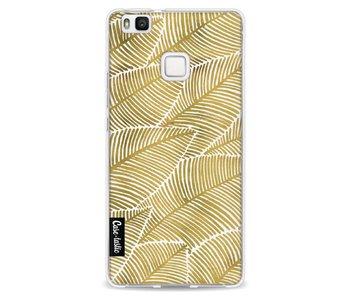 Tropical Leaves Gold - Huawei P9 Lite