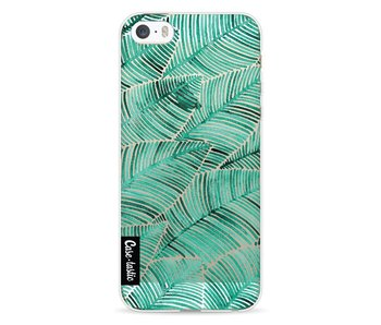 Tropical Leaves Turquoise - Apple iPhone 5 / 5s / SE