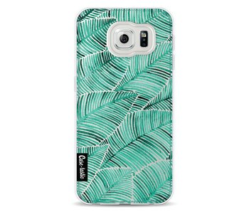Tropical Leaves Turquoise - Samsung Galaxy S6