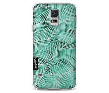 Tropical Leaves Turquoise - Samsung Galaxy S5