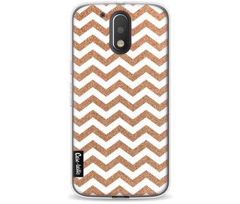 Copper Chevron - Motorola Moto G4 / G4 Plus