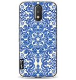 Casetastic Softcover Motorola Moto G4 / G4 Plus - Blue White Folk Art