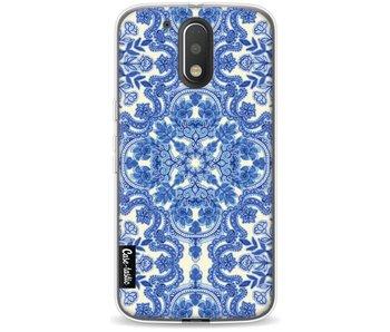 Blue White Folk Art - Motorola Moto G4 / G4 Plus