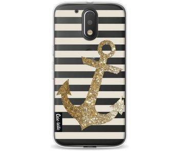 Glitter Anchor Gold - Motorola Moto G4 / G4 Plus