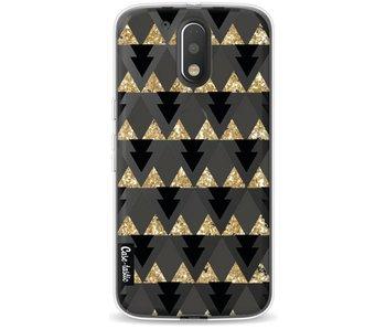 Gold Black Triangles - Motorola Moto G4 / G4 Plus