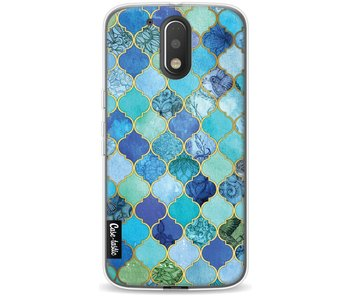 Aqua Moroccan Tiles - Motorola Moto G4 / G4 Plus