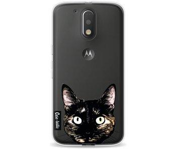 Peeking Kitty - Motorola Moto G4 / G4 Plus