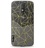 Casetastic Softcover Motorola Moto G4 / G4 Plus - Abstraction Half Half Transparent