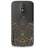 Casetastic Softcover Motorola Moto G4 / G4 Plus - Abstraction Half Transparent