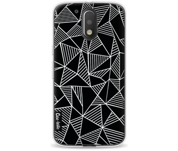 Abstraction Lines Black - Motorola Moto G4 / G4 Plus