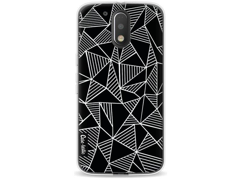 Casetastic Softcover Motorola Moto G4 / G4 Plus - Abstraction Lines Black