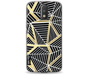 Abstraction Lines Black Gold - Motorola Moto G4 / G4 Plus