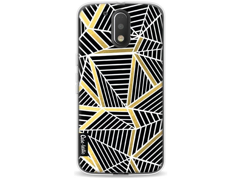 Casetastic Softcover Motorola Moto G4 / G4 Plus - Abstraction Lines Black Gold