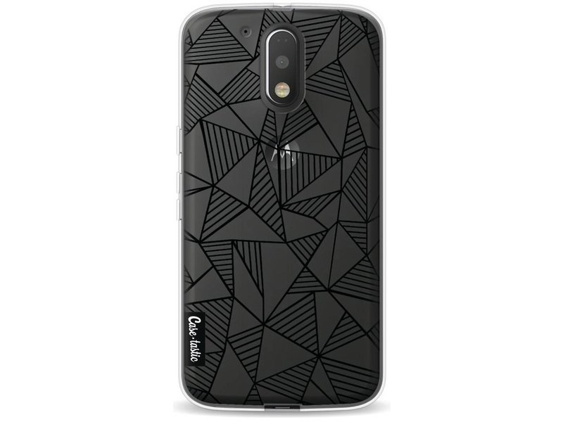 Casetastic Softcover Motorola Moto G4 / G4 Plus - Abstraction Lines Black Transparent