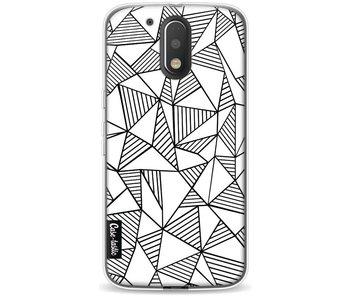 Abstraction Lines White - Motorola Moto G4 / G4 Plus