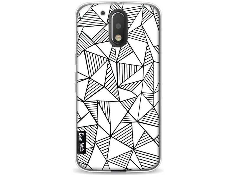 Casetastic Softcover Motorola Moto G4 / G4 Plus - Abstraction Lines White