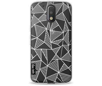 Abstraction Lines White Transparent - Motorola Moto G4 / G4 Plus