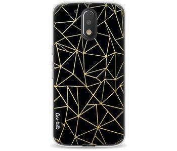 Abstraction Outline Gold - Motorola Moto G4 / G4 Plus