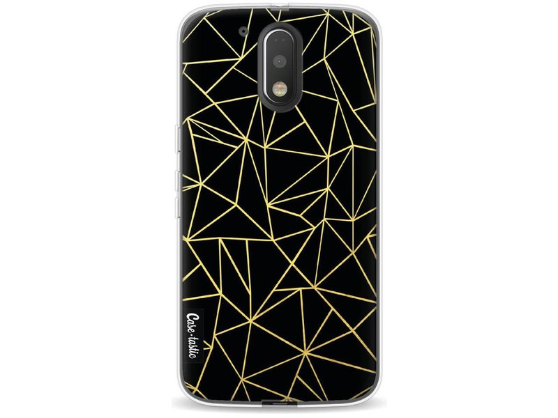 Casetastic Softcover Motorola Moto G4 / G4 Plus - Abstraction Outline Gold