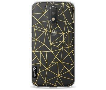 Abstraction Outline Gold Transparent - Motorola Moto G4 / G4 Plus