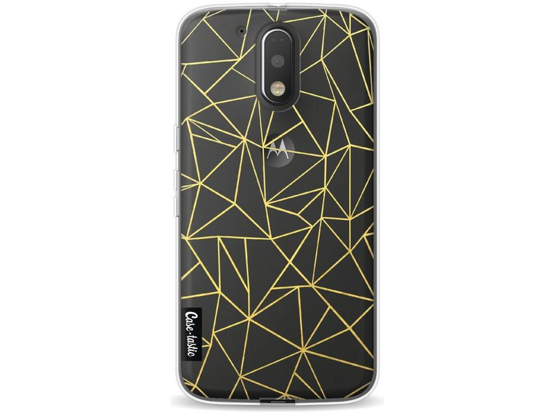 Casetastic Softcover Motorola Moto G4 / G4 Plus - Abstraction Outline Gold Transparent