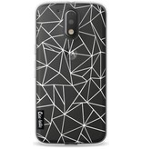 Casetastic Softcover Motorola Moto G4 / G4 Plus - Abstraction Outline White Transparent