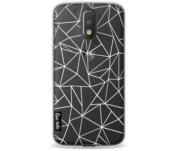 Abstraction Outline White Transparent - Motorola Moto G4 / G4 Plus
