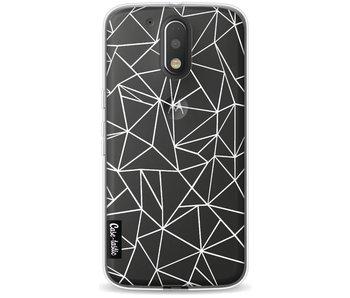 Abstraction Outline White Transparent - Motorola Moto G4 / G4 Plus