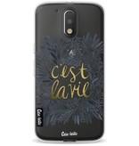 Casetastic Softcover Motorola Moto G4 / G4 Plus - Cest La Vie BlackGold