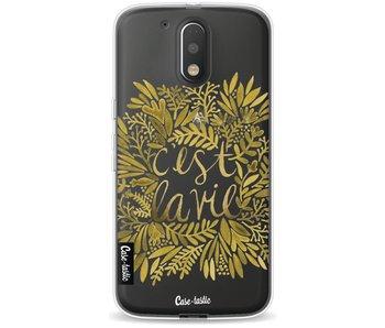 Cest La Vie Gold - Motorola Moto G4 / G4 Plus