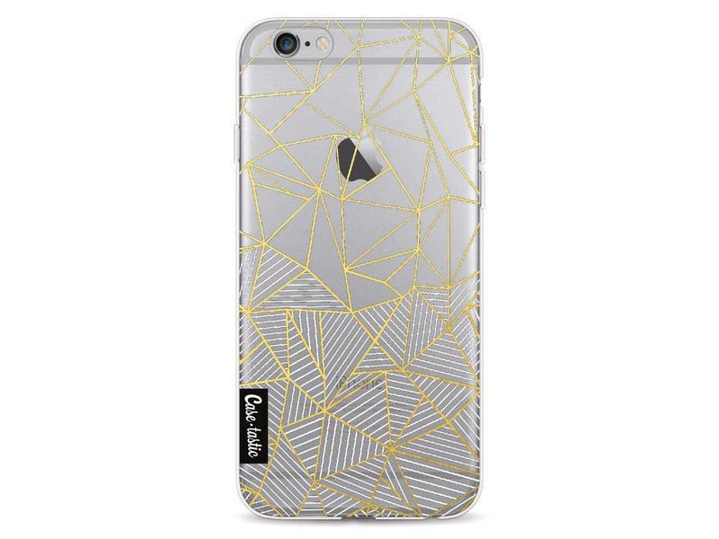 Casetastic Softcover Apple iPhone 6 / 6s  - Abstraction Half Half Transparent
