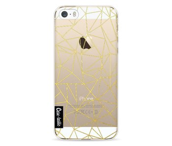 Abstraction Outline Gold Transparent - Apple iPhone 5 / 5s / SE