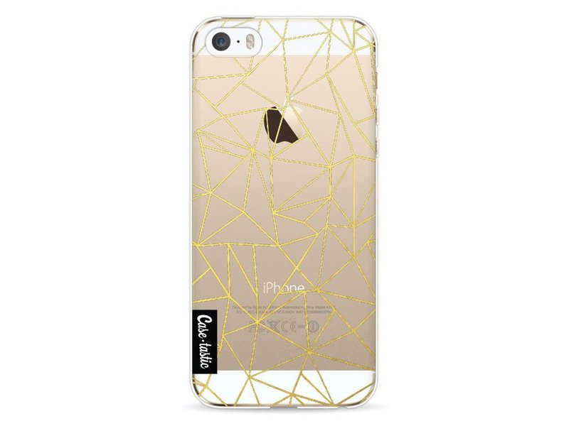 Casetastic Softcover Apple iPhone 5 / 5s / SE - Abstraction Outline Gold Transparent