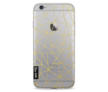Abstraction Outline Gold Transparent - Apple iPhone 6 / 6s