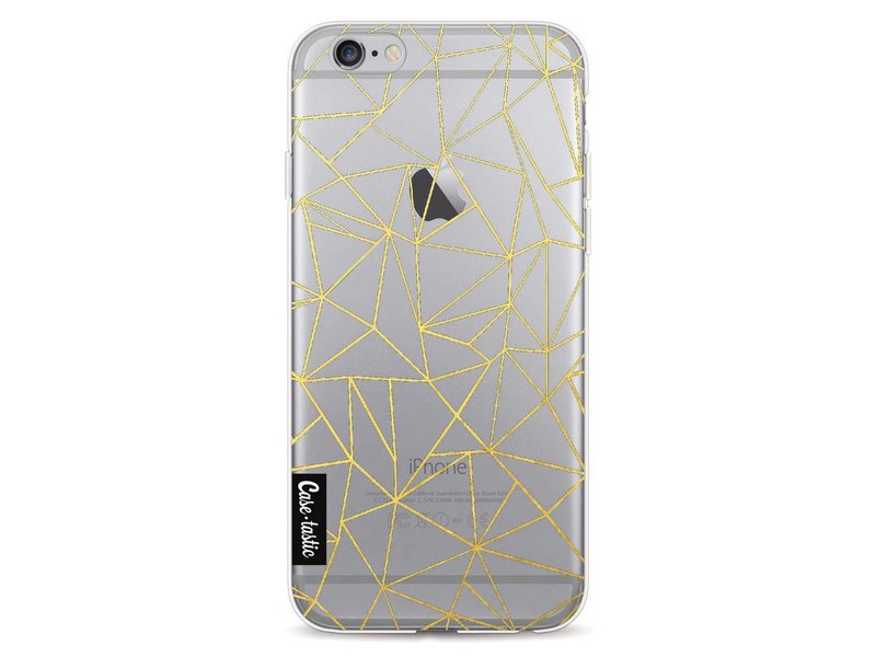 Casetastic Softcover Apple iPhone 6 / 6s  - Abstraction Outline Gold Transparent
