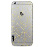 Casetastic Softcover Apple iPhone 6 Plus / 6s Plus - Abstraction Outline Gold Transparent