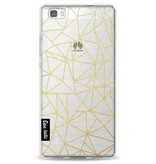 Casetastic Softcover Huawei P8 Lite - Abstraction Outline Gold Transparent