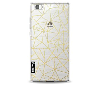 Abstraction Outline Gold Transparent - Huawei P8 Lite