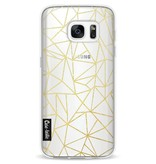 Casetastic Softcover Samsung Galaxy S7 - Abstraction Outline Gold Transparent