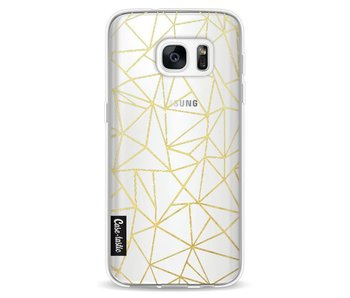 Abstraction Outline Gold Transparent - Samsung Galaxy S7