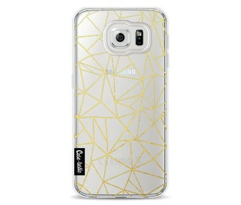 Abstraction Outline Gold Transparent - Samsung Galaxy S6