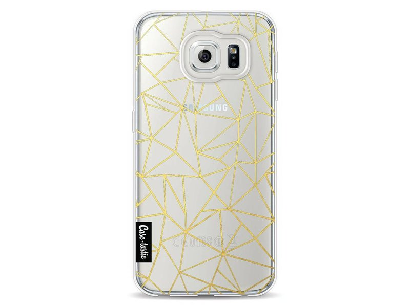 Casetastic Softcover Samsung Galaxy S6 - Abstraction Outline Gold Transparent