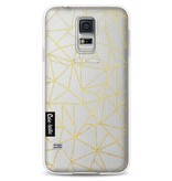 Casetastic Softcover Samsung Galaxy S5 - Abstraction Outline Gold Transparent