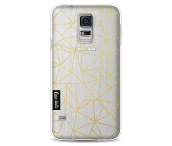 Abstraction Outline Gold Transparent - Samsung Galaxy S5