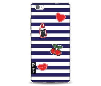 Navy Patches - Huawei P8 Lite