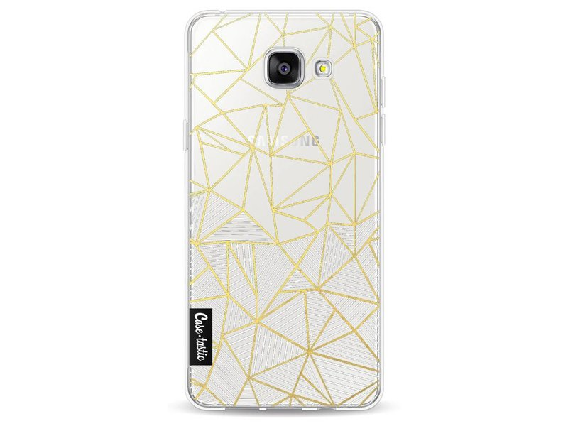 Casetastic Softcover Samsung Galaxy A5 (2016) - Abstraction Half Half Transparent