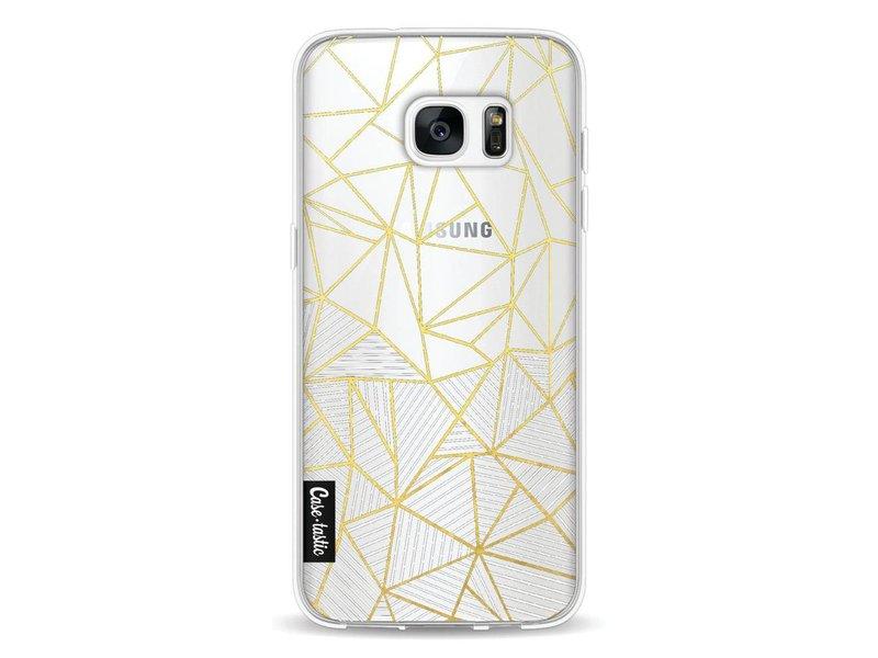 Casetastic Softcover Samsung Galaxy S7 Edge - Abstraction Half Half Transparent