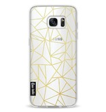 Casetastic Softcover Samsung Galaxy S7 Edge - Abstraction Outline Gold Transparent