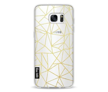 Abstraction Outline Gold Transparent - Samsung Galaxy S7 Edge